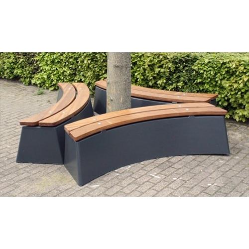 banc beton anthracite ovale x3 partenaire collectivit. Black Bedroom Furniture Sets. Home Design Ideas