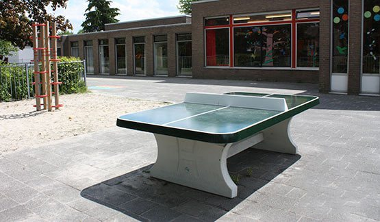 Table ping pong angles arrondis exterieur beton verte - Table de ping pong exterieur pour collectivite ...