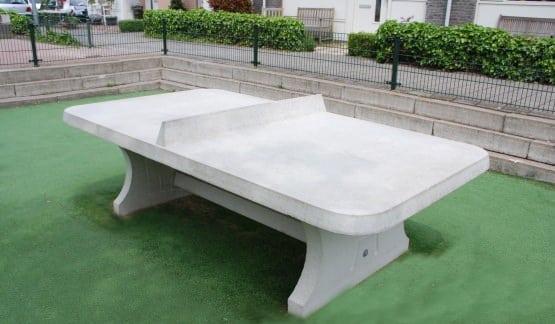 table ping pong angles arrondis exterieur beton. Black Bedroom Furniture Sets. Home Design Ideas