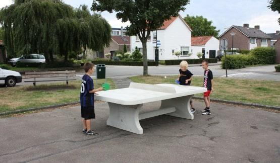 table ping pong angles arrondis exterieur beton partenaire collectivit. Black Bedroom Furniture Sets. Home Design Ideas