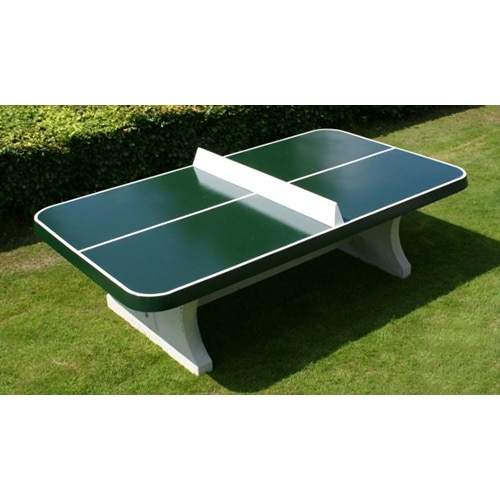 Table ping pong angles arrondis exterieur beton verte - Table de ping pong exterieur en beton ...