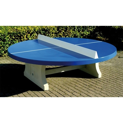 table ping pong rondes exterieur beton bleue partenaire collectivit. Black Bedroom Furniture Sets. Home Design Ideas