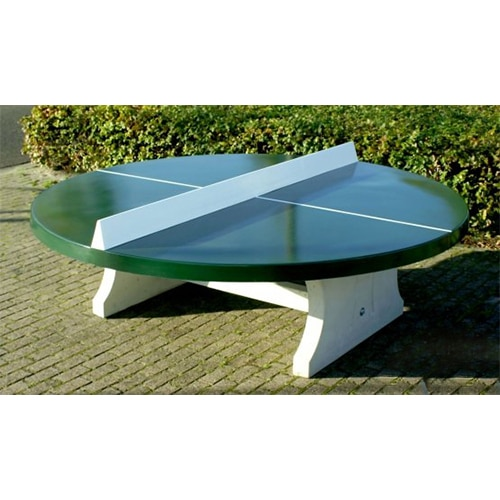 table ping pong rondes exterieur beton verte partenaire. Black Bedroom Furniture Sets. Home Design Ideas