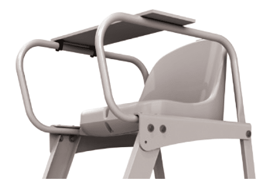 chaise tennis arbitre alu brut partenaire collectivit. Black Bedroom Furniture Sets. Home Design Ideas