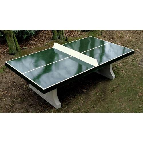 Table ping pong exterieur beton verte partenaire for Table exterieur beton