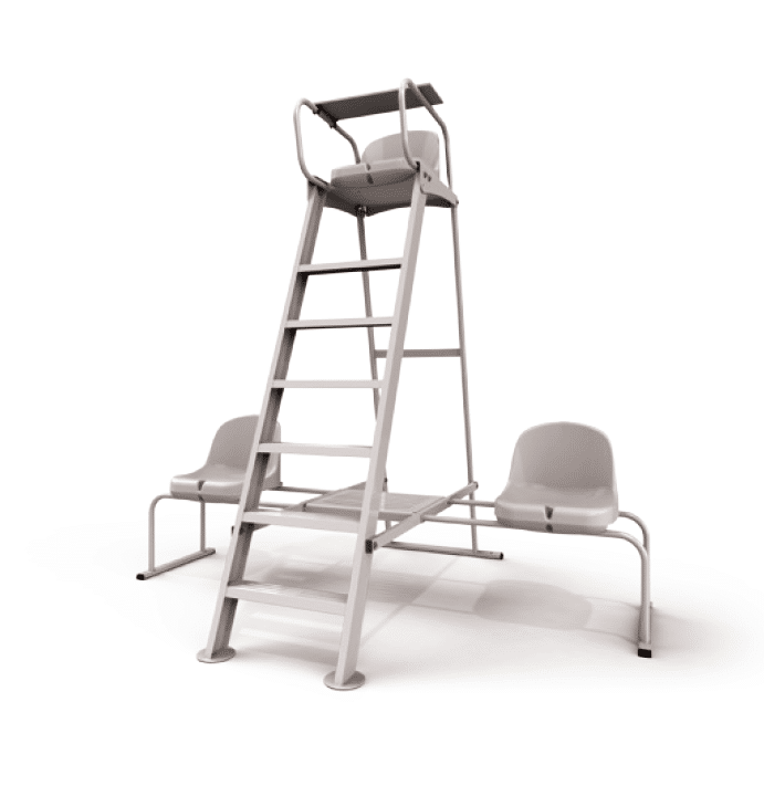 chaise tennis arbitre alu plastifiee partenaire collectivit. Black Bedroom Furniture Sets. Home Design Ideas